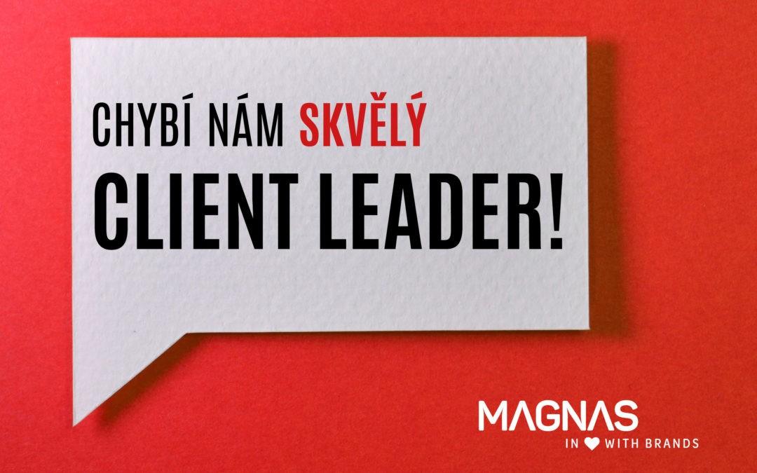 Hledáme nového kolegu. Client Leader